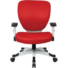 Space Pulsar Padded Mesh Seat and Back Managers Office Chair - Red