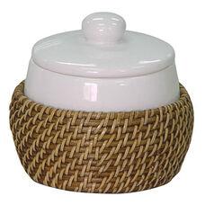 Hana Cotton Jar - Honey Rattan