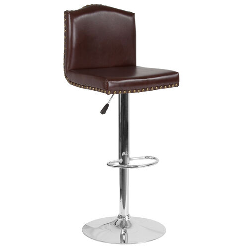 Our Bellagio Contemporary Adjustable Height Barstool with Accent Nail Trim in Brown LeatherSoft is on sale now.