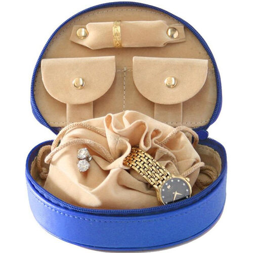 Our Mini Jewelry Case - Top Grain Nappa Leather - Ocean Blue is on sale now.