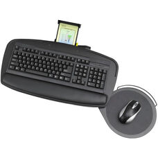 Premier Series Keyboard Platform with Control Zone and Adjustable Mouse Pad - Black