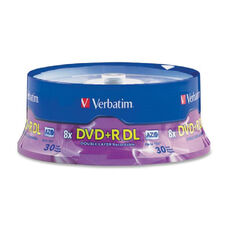 Verbatim 8X Branded Double Layer Dvd+R - Pack Of 30