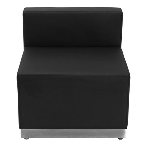 Our HERCULES Alon Series Black Leather Chair with Brushed Stainless Steel Base is on sale now.