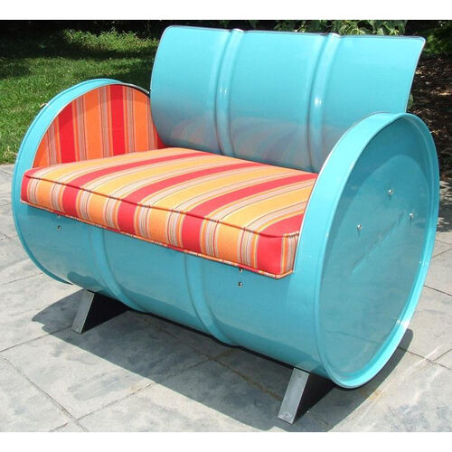 Our Santa Fe Steel Drum Armchair with Multicolor Accents is on sale now.