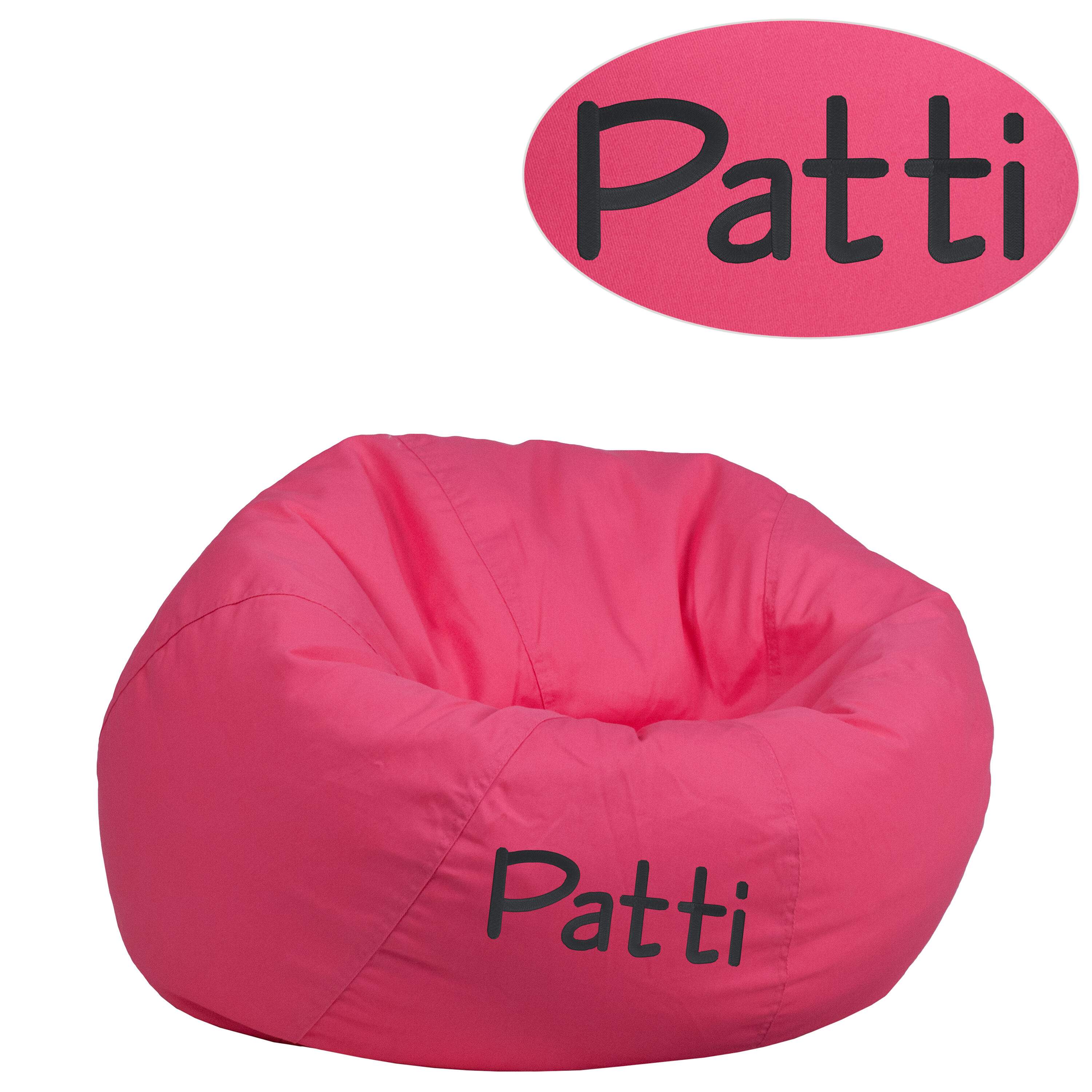 Superieur ... Our Personalized Small Solid Hot Pink Kids Bean Bag Chair Is On Sale  Now.
