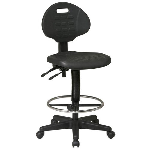 Our Work Smart Intermediate Ergonomic Drafting Chair with Adjustable Footrest and Seat Tilt - Black is on sale now.