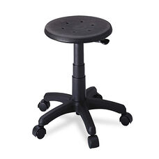 Safco® Office Stool with Casters - Seat: 14in dia. x 16-21 - Black