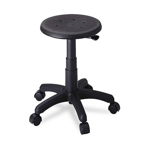 Our Safco® Office Stool with Casters - Seat: 14in dia. x 16-21 - Black is on sale now.