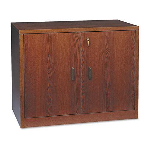 HON® 10500 Series Storage Cabinet w/Doors - 36w x 20d x 29-1/2h - Mahogany