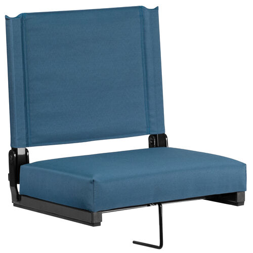 Our Grandstand Comfort Seats by Flash with Ultra-Padded Seat in Teal is on sale now.