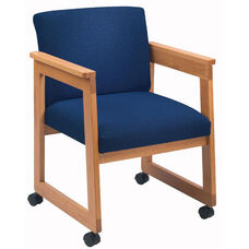 Classic Series Tapered Arm Guest Chair with Sled Base and Casters