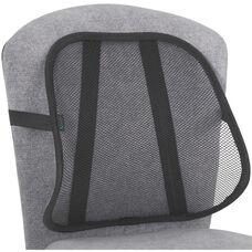 Adjustable Light Weight Mesh Backrest with Securing Strap - Set of Five - Black