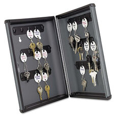 SteelMaster® Security Key Cabinets - 30-Key - Steel - Charcoal Gray - 8 1/2 x 2 3/8 x 11 5/8