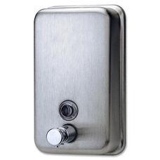 Genuine Joe Soap Dispenser - Holds 31.5oz. - Stainless Steel