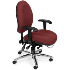 24 Hour Big & Tall Computer Task Chair - Burgundy
