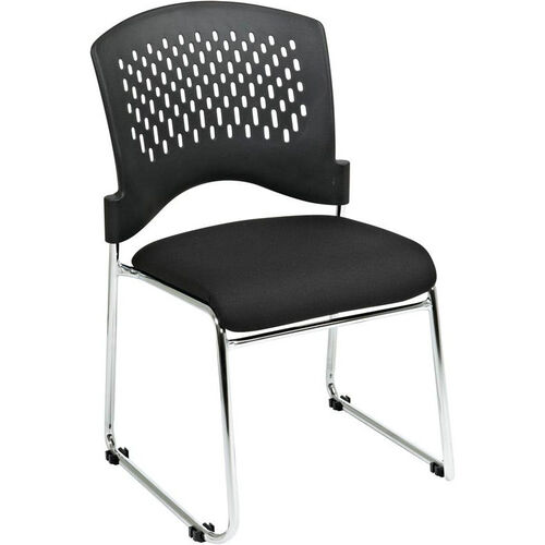 Our Pro-Line II Visitors Chair with Plastic Back and Padded Fabric Seat - Set of 2 - Black is on sale now.