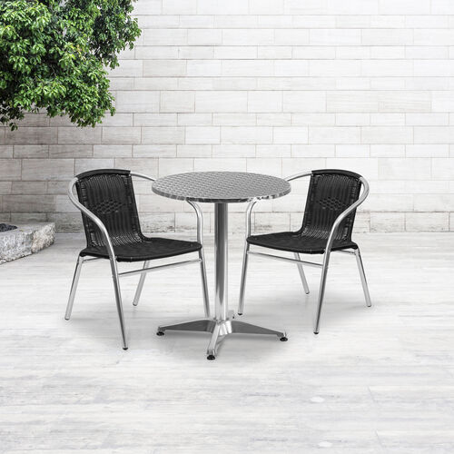 Our Aluminum and Rattan Commercial Indoor-Outdoor Restaurant Stack Chair is on sale now.