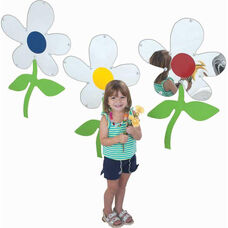 Wall Hung Flower Mirrors Set