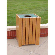 Heavy Duty Recycled Plastic 32 Gallon Square Receptacle