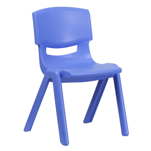 Our Blue Plastic Stackable School Chair with 15.5