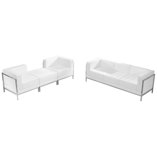 Our HERCULES Imagination Series Melrose White LeatherSoft Sofa & Lounge Chair Set, 4 Pieces is on sale now.