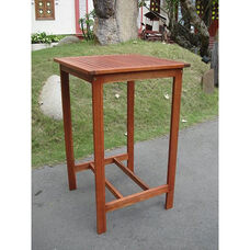 Malibu Outdoor Bar Table with Straight Legs