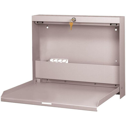 Our WallWrite Locking Fold-Up Desk - Light Gray is on sale now.