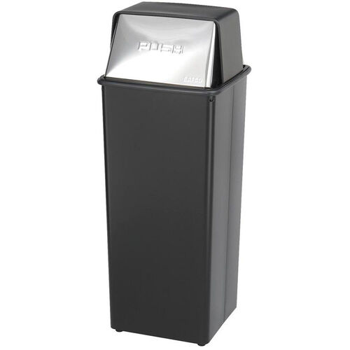 Our Reflections® 21 Gallon Push Top Steel Construction Receptacle - Black is on sale now.