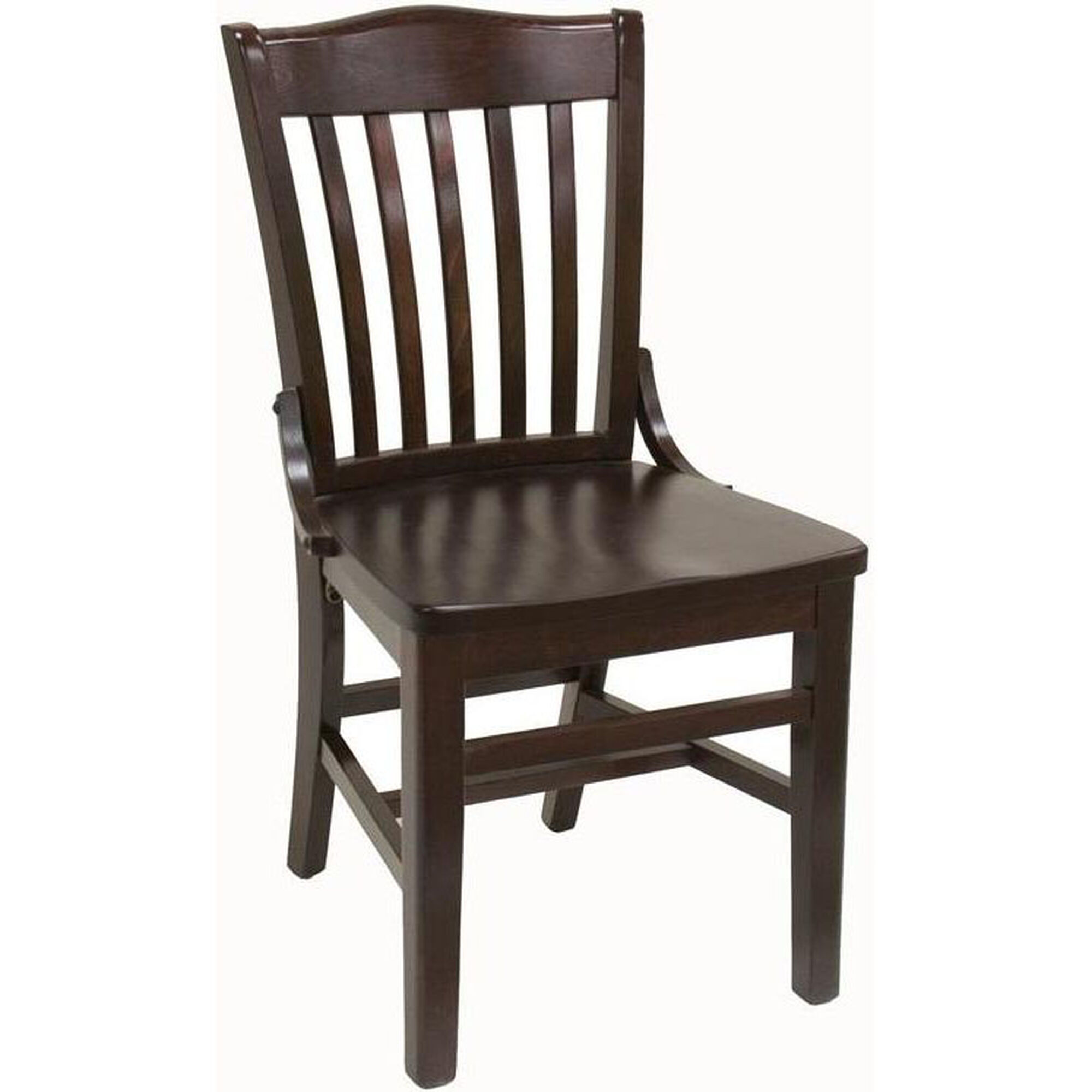 Slatted Back Chairs ~ Slat back mahogany side chair sws dm bizchair