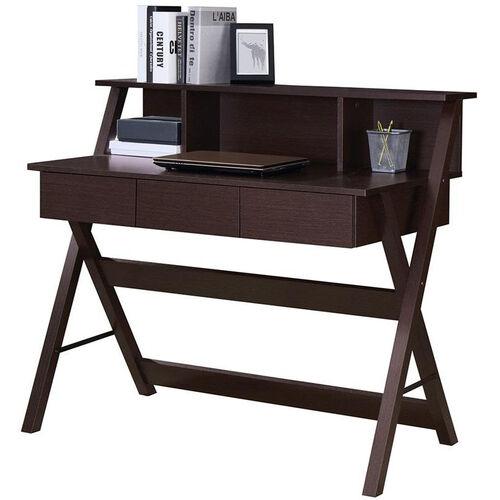 Techni Mobili Writing Desk with Storage - Wenge