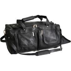 Executive Duffel Bag - Colombian Vaquetta Leather - Black