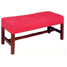 503 Luggage Bench w/ Upholstered Web Seat & Chippendale Legs - Grade 2