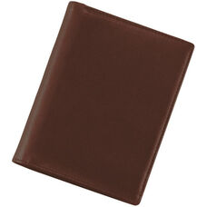 European Passport Wallet - Top Grain Nappa Leather - Coco