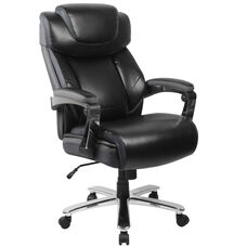 HERCULES Series Big & Tall 500 lb. Rated Black Leather Executive Swivel Ergonomic Office Chair with Adjustable Headrest