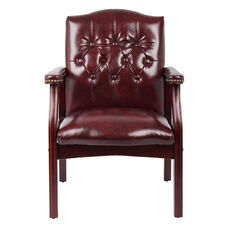 Traditional Button Tufted Caressoft™ Guest Chair - Burgundy