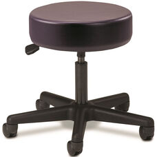 Pneumatic Adjustable Medical Stool - Purple Gray with Black Base