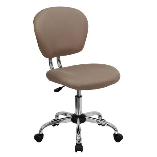 Our Mid-Back Coffee Brown Mesh Padded Swivel Task Office Chair with Chrome Base is on sale now.
