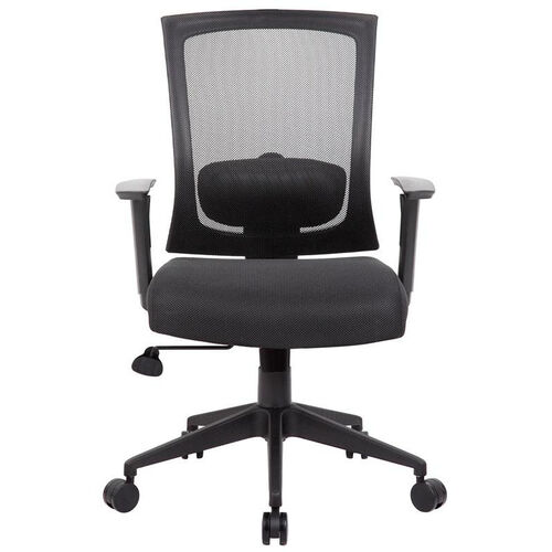 Our Breathable Mesh Ractchet Back Task Chair With Adjustable Height Armrests - Black is on sale now.