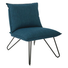 Ave Six Riverdale Chair with Black Legs - Azure