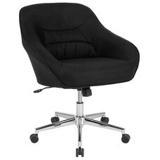 Marseille Home and Office Upholstered Mid-Back Chair in Black Fabric