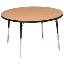 Laminate Top Adjustable Height Round Activity Table with Particleboard Core - 60