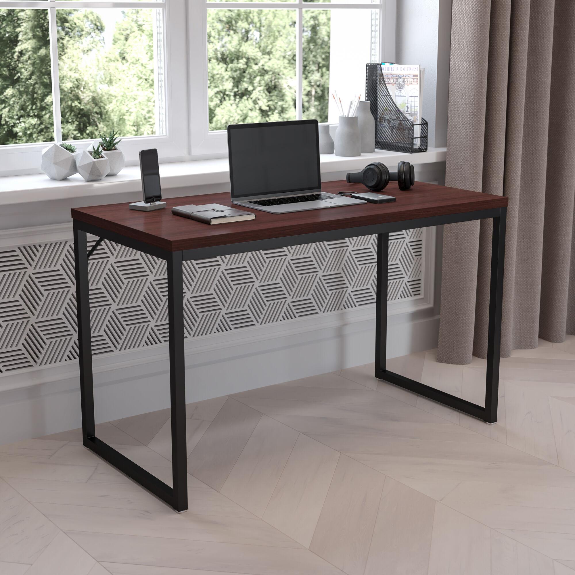 Mahogany Commercial Desk Gc Gf156 12 Mhg Gg Bizchair Com