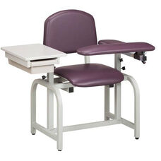 Lab X Series Blood Drawing Chair with Padded Flip Arm and Drawer