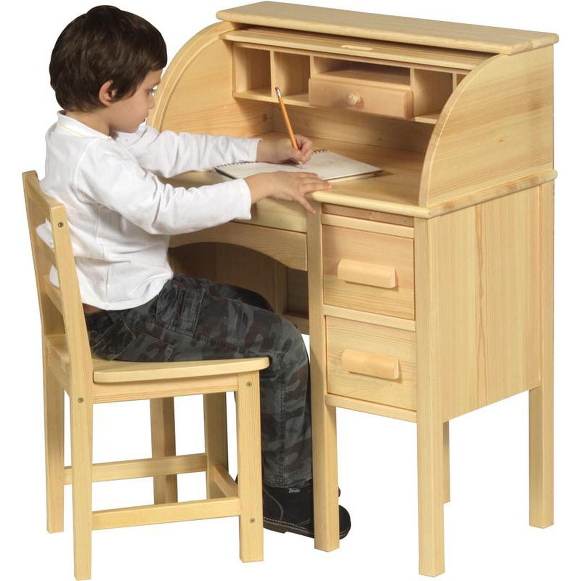 Guidecraft Jr Roll Top Desk In Light Oak G97300