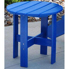 Traditional Recycled Plastic Adirondack Side Table in Blue
