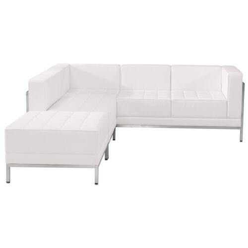 Our HERCULES Imagination Series Melrose White LeatherSoft Sectional Configuration, 3 Pieces is on sale now.