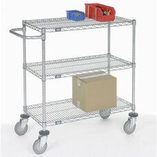Chrome Adjustable Wire Shelf Cart - 24