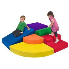 SoftZone® Primary Colors Vinyl Covered Foam Corner Climber Play Center