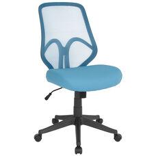 Salerno Series High Back Light Blue Mesh Office Chair
