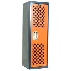 Home Team Locker Unassembled - Dark Blue Body & Orange Door - 15